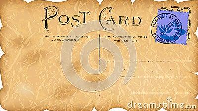 Vintage paper postcard