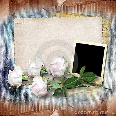 Vintage paper with a roses