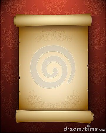 Vintage paper scroll