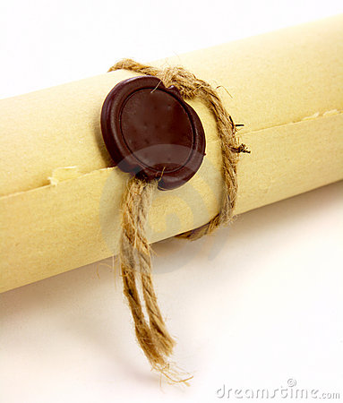 Vintage paper with sealing wax