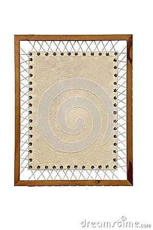 Vintage Paper wooden frame