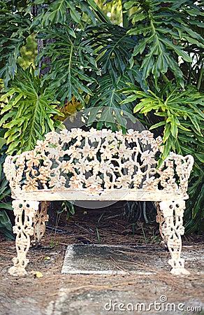 Vintage park bench