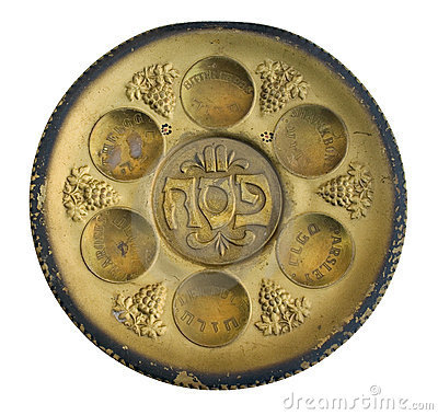 Free Vintage Passover Sabbath Seder Plate Royalty Free Stock Images - 13318399