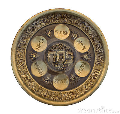 Free Vintage Passover Seder Plate Royalty Free Stock Photos - 10549088