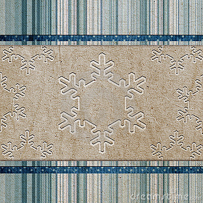 Vintage pattern with snowflake