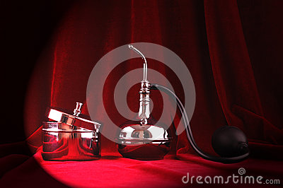 Vintage perfume brass set