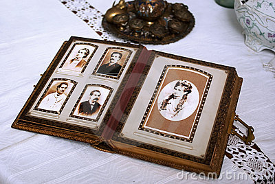 Vintage photo album Editorial Photo