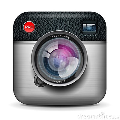 Free Vintage Photo Camera Icon, Vector Eps10 Image Stock Photos - 28160423