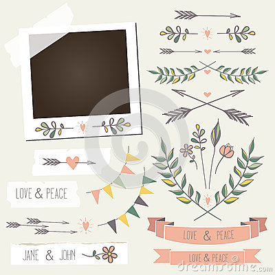 Free Vintage Photo Frame With Flowers,laurels, Wreaths, Royalty Free Stock Photo - 33917035