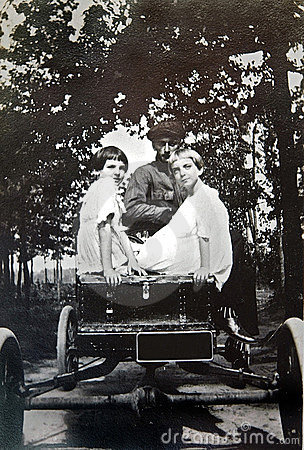 Vintage Photo of Girls in a Car