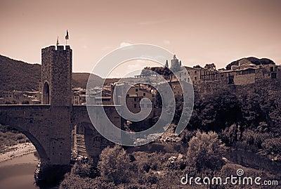 Vintage photo of medieval town