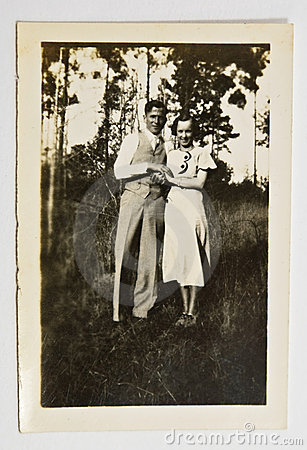 Free Vintage Photo Of A Couple Royalty Free Stock Image - 10977886