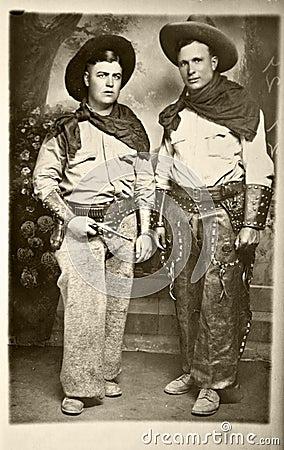 Free Vintage Photo Of Cowboys Stock Image - 11144191