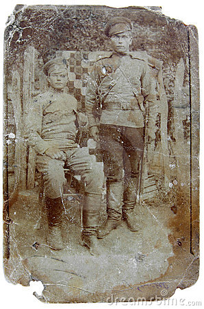 Vintage photo of soldiers