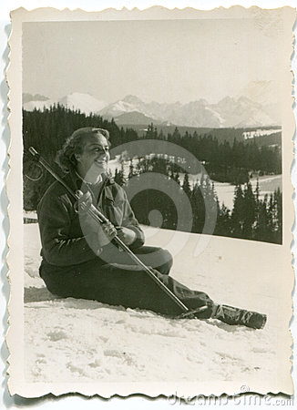 Vintage photo of woman