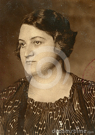 Vintage photo of woman