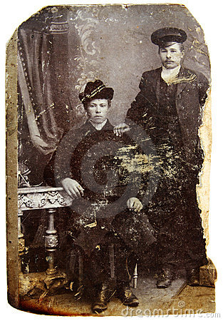 Vintage photo of young men