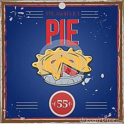 Vintage pie poster