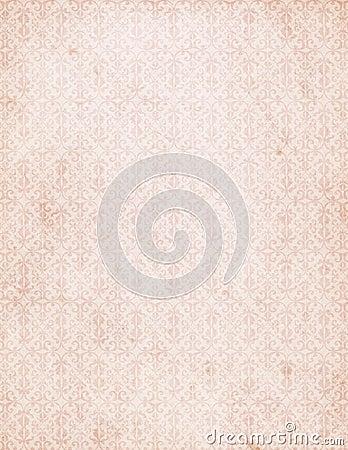 Free Vintage Pink Damask Pattern Wallpaper Stock Photo - 27747470