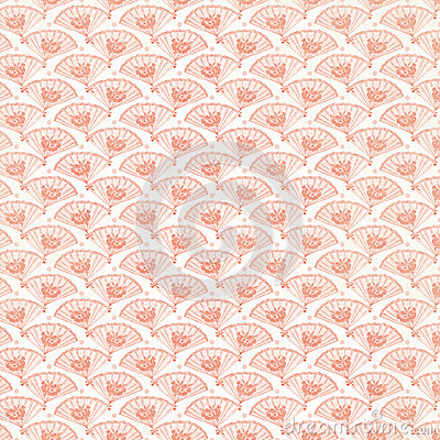 Vintage Pink Fan Background repeat wallpaper
