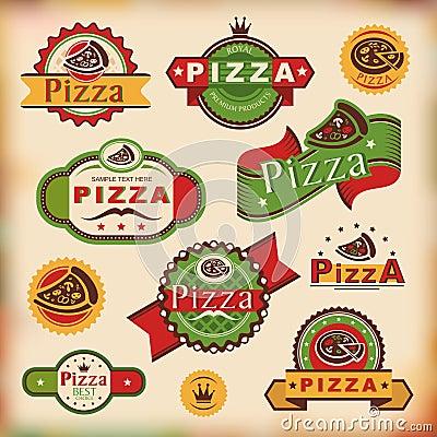 Free Vintage Pizza Labels Stock Photos - 26395733