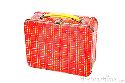 Vintage Plaid Metal Lunch Box
