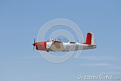 Vintage plane in flight