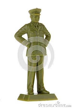 Vintage plastic Army Commander