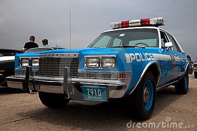 Vintage Plymouth police car Editorial Image
