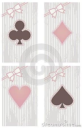 Vintage poker cards