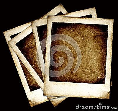 vintage polaroid frame old polaroid frame with tape isolated on