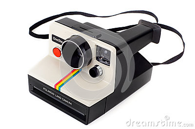 Vintage Polaroid Land Camera OneStep Editorial Stock Image
