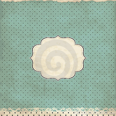 Vintage polka dot card