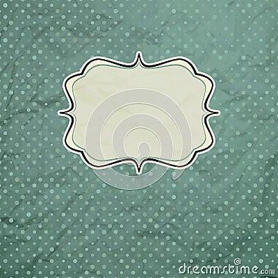 Vintage polka dot card.