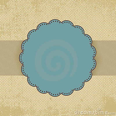 Vintage polka dot card template. EPS 8