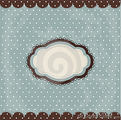 Free Vintage Polka Dot Design, Brown Frame Royalty Free Stock Photos - 22564818