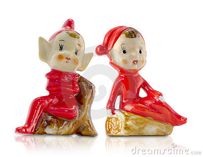 Vintage Porcelain Christmas El