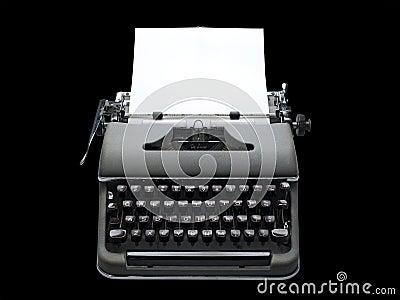 Vintage portable typewriter, isolated