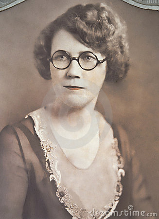 Vintage Portrait of Woman