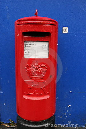 Vintage post-box in Derry