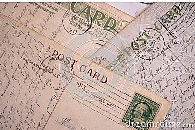 Vintage Post Cards - Background