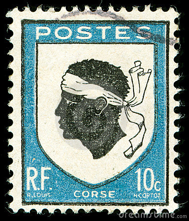 Vintage postage stamp from Corsica