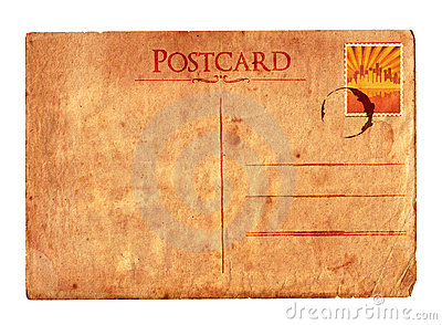 Vintage postcard 02 (with stamp)