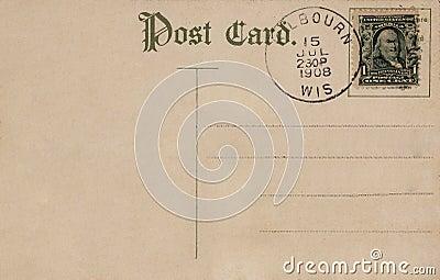 Vintage postcard 1908