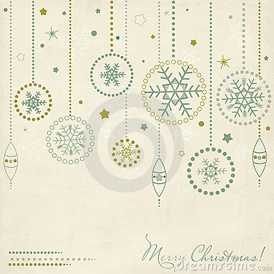 Vintage postcard with Christmas elements