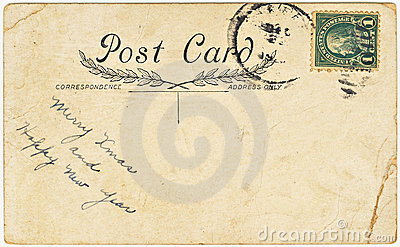 Vintage Postcard with Christmas Greeting