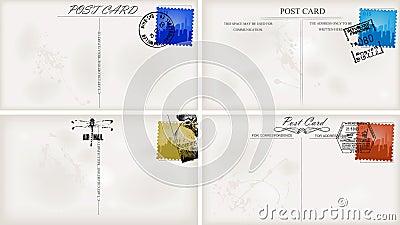 Vintage postcard designs