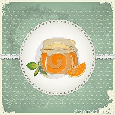Vintage Postcard - Orange Jam