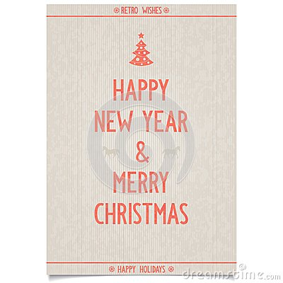 Free Vintage Poster On Old Paper For New Year Royalty Free Stock Photo - 35601815