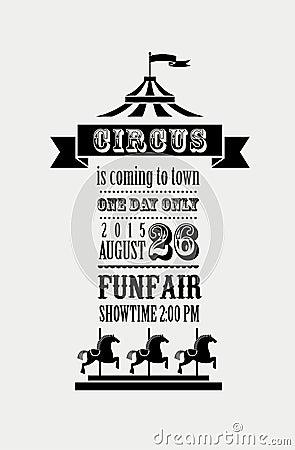 Free Vintage Poster With Carnival, Fun Fair, Circus Stock Photos - 50552323